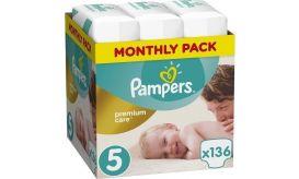 Pampers Πάνες Premium Care (136τεμ) No5 (11-16kg)