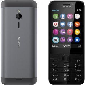 Nokia 230 DS Dark Silver Κινητό Τηλέφωνο