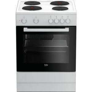 Beko FSS 66003 GW Ηλεκτρική Εμαγιέ Κουζίνα