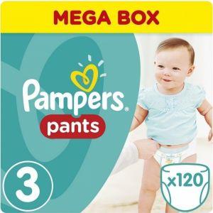 Pampers Πάνες Pants Mega Pack (120τεμ) No 3 Midi (6-11kg)