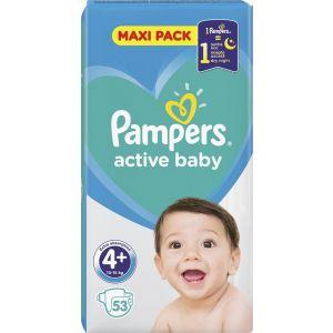 Pampers Πάνες Active Baby (53τεμ) No4+ (10-15kg)