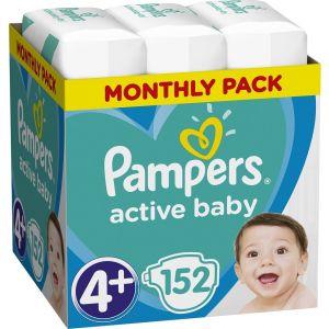 Pampers Πάνες Active Baby (152τεμ) No4+ (10-15kg)