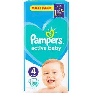 Pampers Πάνες Active Baby (58τεμ) No4 (8-16kg)
