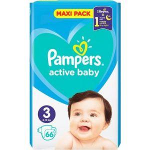 Pampers Πάνες Active Baby (66τεμ) No3 (6-10kg)