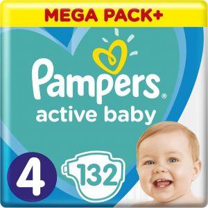 Pampers Πάνες Active Baby (132τεμ) No4 (9-14kg)