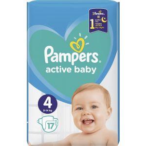 Pampers Πάνες Active Baby (17τεμ) No4 (9-14kg)
