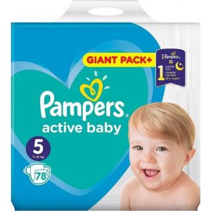 Pampers Πάνες Active Baby (78τεμ) No5 (11-16kg)