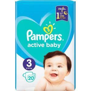 Pampers Πάνες Active Baby (20τεμ) No3 (6-10kg)