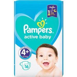 Pampers Πάνες Active Baby (16τεμ) No4+ (10-15kg)