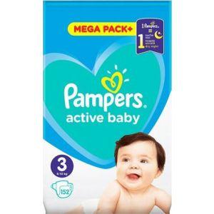 Pampers Πάνες Active Baby (152τεμ) No3 (6-10kg)