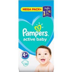 Pampers Πάνες Active Baby (120τεμ) No4+ (10-15kg)