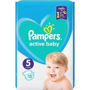 Pampers Πάνες Active Baby (15τεμ) No5 (11-16kg)