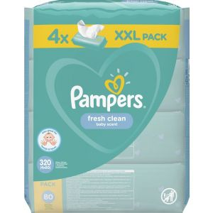 Pampers  Baby Wipes Sensitive 4 X 80 Τεμάχια