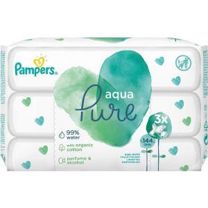 Pampers Aqua Pure Μωρομάντηλα (3x48) 144τεμ