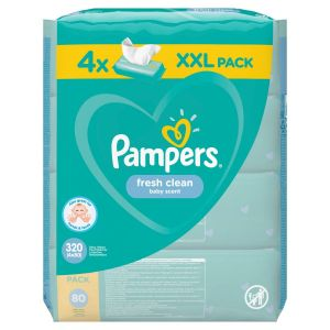 Pampers Fresh Μωρομάντηλα 320τεμ (4x80τεμ)