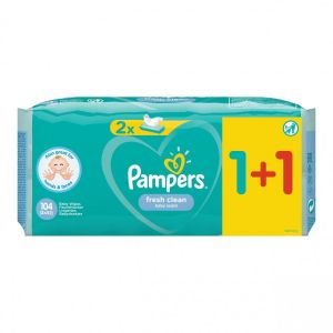 Pampers Fresh Μωρομάντηλα 104τεμ (2x52τεμ)