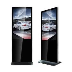 "Amber 49"" Digital Signage Ultra Thin Info Kiosk"