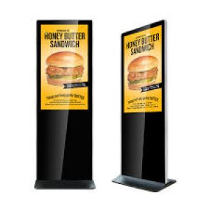 "Amber 43"" Digital Signage Ultra Thin Info Kiosk"
