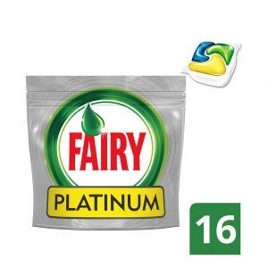 Fairy Lemon Playtinum 16 τμχ Απορρυπαντικό Πλυντηρίου Πιάτων σε Κάψουλες 4084500823457