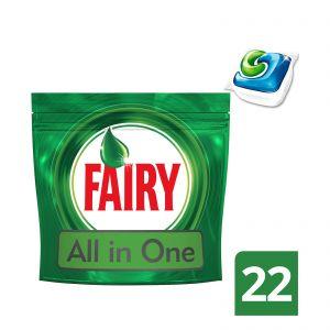 Fairy Original All in one 22 τμχ Απορρυπαντικό Πλυντηρίου Πιάτων σε Κάψουλες 8001090011398