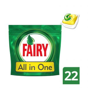 Fairy Lemon Original All in one 22 τμχ Απορρυπαντικό Πλυντηρίου Πιάτων σε Κάψουλες 8001090011541