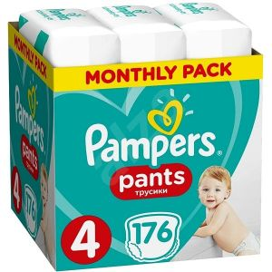 Pampers Πάνες Pants (176τεμ) No4 (9-14kg) 8001090807922