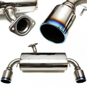 HKS PREMIUM LEGAMAX EXHAUST REAR SECTION LANCER EVO X TITANIUM