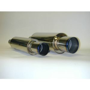 ΗΚS HIPOWER TITANIUM MUFFLER REAR SECTION 96mm