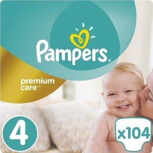 Pampers Πάνες Premium Care (104τεμ) No4 (8-14Kg)