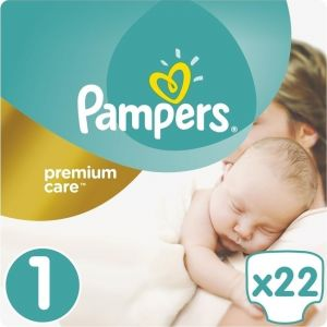 Pampers Πάνες Premium Care (22τεμ) No1 (2-5kg)