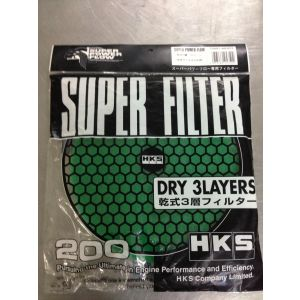 HKS SPF FILTER DRY 3 LAYERS 200mm GREEN