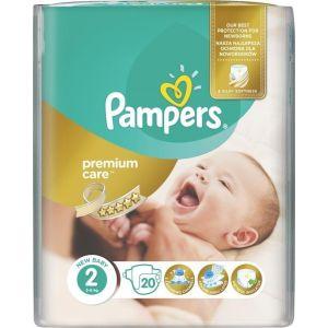 Pampers Πάνες Premium Care (20τεμ) No2 (3-6Kg)