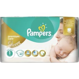 Pampers Πάνες Premium Care (41τεμ) No1 (2-5kg)