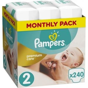 Pampers Πάνες Premium Care (240τεμ) No2 (4-8Kg)