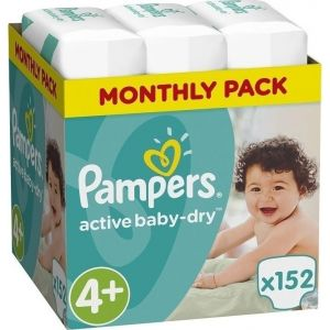 Pampers Πάνες Active Baby Dry (152τεμ) No4+ (9-16kg)