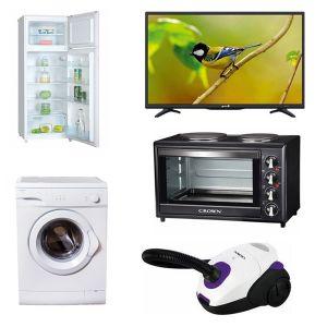 Φοιτητικό Πακέτο Νο4 2017 ( Ψυγείο , Κουζίνα, Τηλεόραση, Πλυντήριο, Σκούπα )