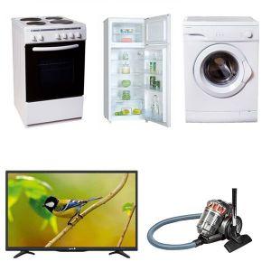 Φοιτητικό Πακέτο Νο5 2018 ( Ψυγείο , Κουζίνα, Τηλεόραση, Πλυντήριο, Σκούπα)