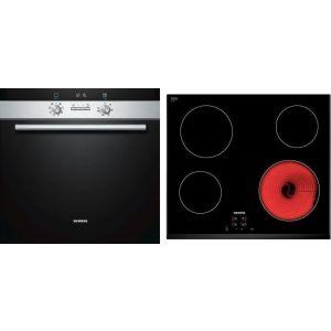 Siemens SA23FN555 (HB23GB555 + ET651HE17E) Σετ Κουζίνα Εστία