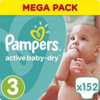 Pampers Πάνες Active Baby Dry (152τεμ) No3 (5-9Kg)