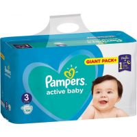 Pampers Πάνες Active Baby (104τεμ) No3 (6-10kg)