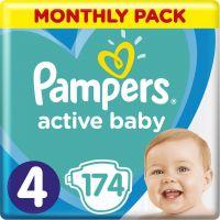 Pampers Πάνες Active Baby (174τεμ) No4 (9-14kg)