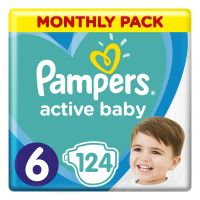 Pampers Πάνες Active Baby Monthly Pack (124τεμ) No6 (13-18kg)