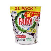 Fairy Lemon Playtinum 30 τμχ Απορρυπαντικό Πλυντηρίου Πιάτων σε Κάψουλες 8001841377049