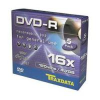 Traxdata DVD-R 16x Value Pack 5άδα Slim Κασετίνα