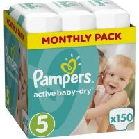 Pampers Πάνες Active Baby Dry (150τεμ) No5 (11-18Kg)