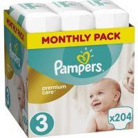 Pampers Πάνες Premium Care (204τεμ) No3 (6-10kg) 8001090379498