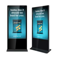 "Amber 65"" Digital Signage Touchscreen Ultra Thin Info Kiosk"