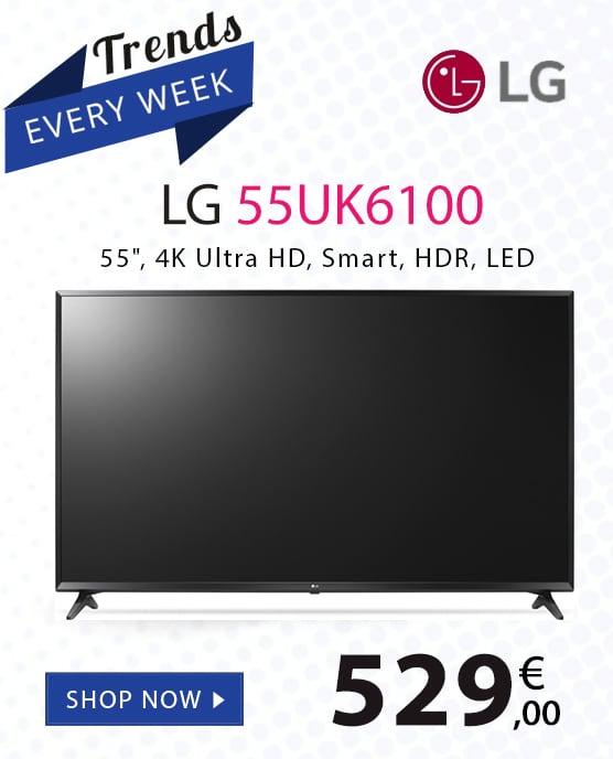 LG 55UK6100 Smart Τηλεόραση LED με Δορυφορικό Δέκτη